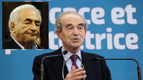 Tidligere justisminister for sosialistpartiet i Frankrike, Robert Badinter, tar Dominique Strauss-Kahn kraftig i forsvar.