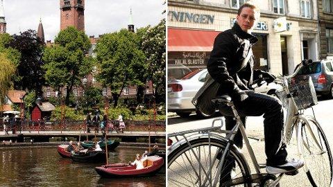 Tivoli er verdens eldste i sitt slag (t.v). København er syklistenes by (t.h)