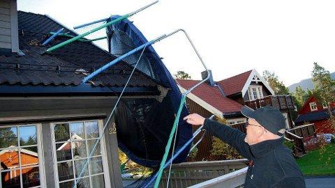 ET PROBLEM: Trond Kristiansen er en av dem som tidligere har fått nærkontakt med naboens trampoline.