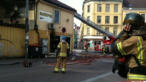 BRANN: Ingen ble skadet i brannen som brøt ut i morgentimene mandag.