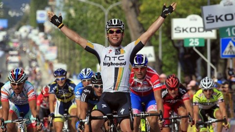 Mark Cavendish HTC vinner 10. etappe i Giro d'Italia 2011 Alexander Kristoff Roberto Ferrari Alessandro Petacchi