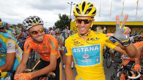 Samuel Sanchez (Euskaltel) og Alberto Contador (Astana)