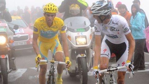 Alberto Contador, Andy Schleck Col du Tourmale