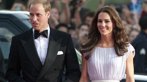 PRINS WILLIAM og Kate er i Hollywood, og lørdag kveld deltok de på BAFTA Brit Awards.