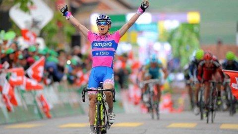 Damiano Cunego Lampre Isd vinner andre/tredje etappe av Romandiet Rundt Tour of Romandie