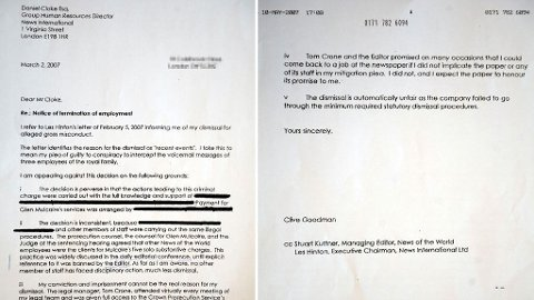 BREVET: «Forsvarsbrevet» til Clive Goodman til ankesaken i 2007 viser at flere visste om skandalen.