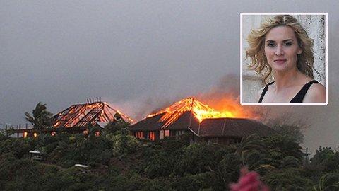 RICHARD BRANSONS hus ble totalskadd på rekordtid av brannen.