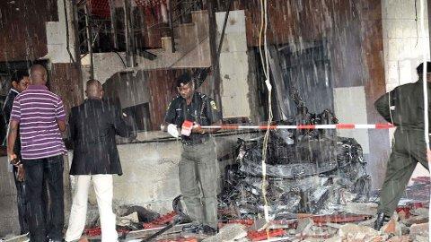 BOMBE: En bilbombe rammet FN-kontoret i den nigerianske hovedstaden Abuja fredag.