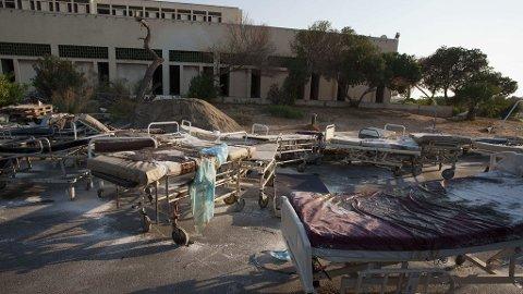 SKREKKENS SYKEHUS: Flere hundre lik skal ha blitt funnet inne på Abu Salim-sykehuset i Tripoli.