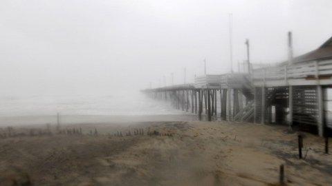 STORM: Her treffer orkanen «Irene» Cape Hatteras i North Carolina