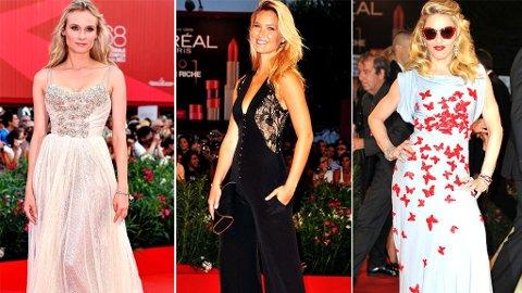 I VENEZIA: Diane Kruger, Bar Rafaeli og Madonna er blant Hollywood-stjernene som har tatt turen til filmfestivalen i Venezia. Dette er det 68. året festivalen arrangeres.