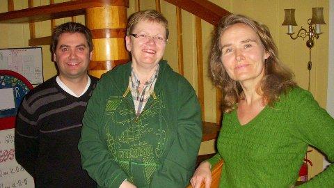 LOKALE BU-TOPPER: Østensjø Aps tre øverste listetopper Kristin Sandaker (t.v.), som trolig blir ny BU-leder, Liv Thorstensen og Pål Einar Røch Johansen.