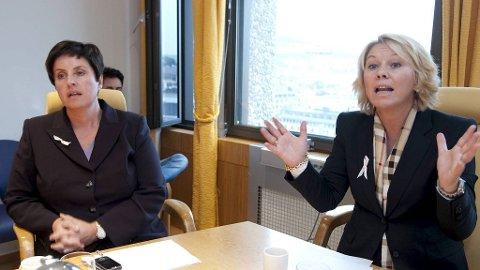 Finansbyråd Liv Røssland (Frp) og byrådsleder Monica Mæland (H).