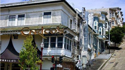 San Francisco er mye bakker og lett gjenkjennelige hus.