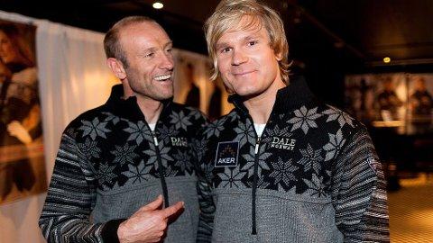 ØYSTEIN PETTERSEN og Odd-Bjørn Hjelmeset synes begge det er viktig å støtte norsk design.