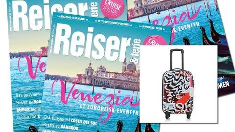 Les Reiser & ferie og vinn tøff kabinkoffert.