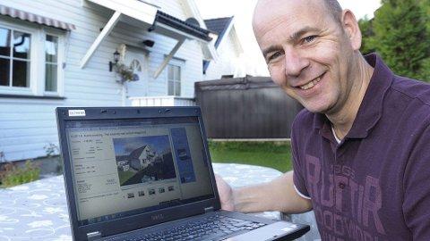 Erik Lindløkken ble overrasket da han fant sitt eget hus ute for salg på finn.no.