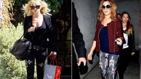 SAMME BUKSER: Nicole Richie og Cheryl Cole har visst tenkt likt.