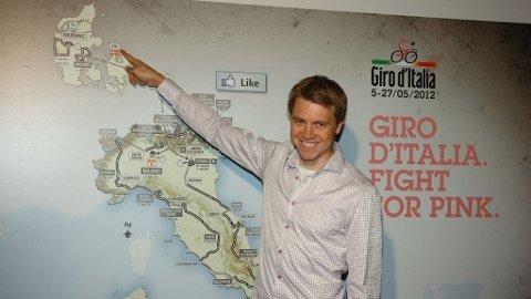 Edvald Boasson hagen på presentasjonen av 2012-utgaven av Giro d'Italia