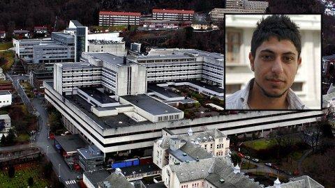 Davoud Rasti fikk sterke smertestillende medisiner på Haukeland sykehus. Deretter døde han.