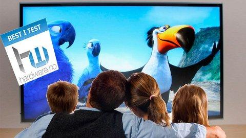 STUENS MIDTPUNKT: Vi har testet seks TV-modeller mellom 46 og 50 tommer, med en prislapp på under ti tusen kroner.