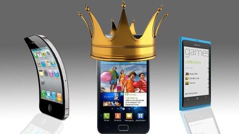 Nå er det Samsung som er kongen av smartmobiler.