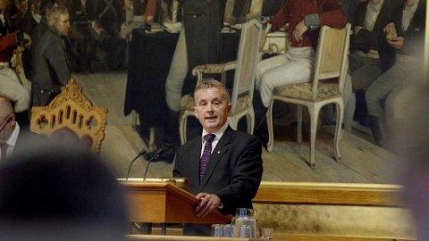 REDEGJORDE: Torsdag sto Knut Storberget på Stortingets talerstol.