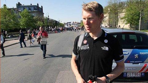 Gabriel Rasch dagen før Paris-Roubaix 2011