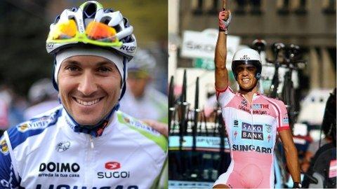 Ivan Basso (Liquigas) og Alberto Contador (Saxo Bank)