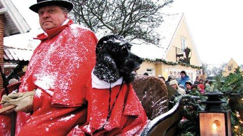 Den levende julekalenderen i Skagen gjør suksess.