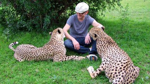 Ingvald Bergsagels sterkeste møte i året som er gått, var møtet med disse vakre gepardbrødrene.