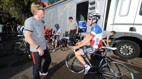 Brian Holm og Sylvain Chavanel