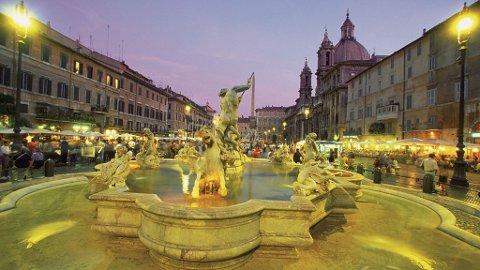 På Piazzo Navona er byens barokke periode på utstilling.