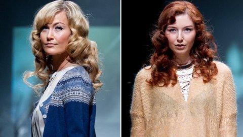 HELENE VIKSE: Hege Tørresdal og Claudia Alette Bull stilte opp for den norske designeren da hun viste sin nyeste kolleksjon på Oslo Fashion Week.