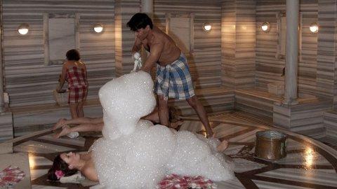 Nyt en klassisk hammam i hotellets spa.