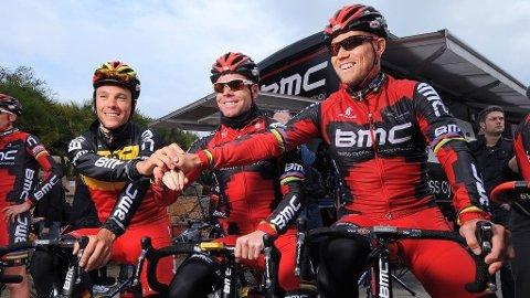 Philippe Gilbert, Cadel Evans og Thor Hushovd (BMC)