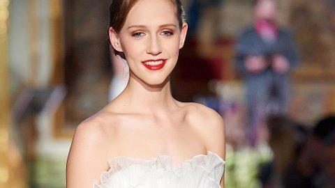 BRYLLUPSMESSE: Årets bryllupsmesse inkluderte blant annet en trendvisning. Modellene var naturlig sminkede, i romantisk stil.
