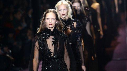 MILAN FASHION WEEK hadde flere store motehus å by på, blant annet Gucci.