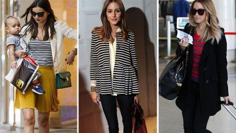 STRIPER: Miranda Kerr, Olivia Palermo og Lauren Conrad går for en maritim stil.