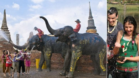 Du kan ikke unngå å bli våt om du reiser til Thailand i april.