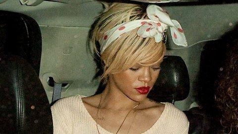 BESØK: Rihanna var tidligere på dagen på restauranten Giorgio Baldi i Malibu, før hun på natta dro videre til Ashton.