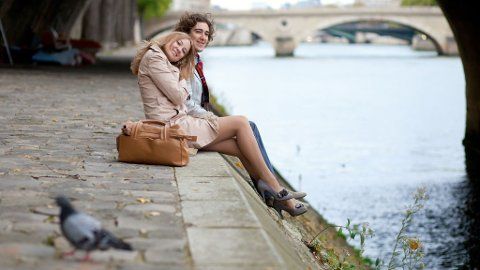 Våren i Paris er romantisk og vakker.