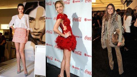 Miranda Kerr, Blake Lively og Olivia Palermo er blant Annette Hagas store moteikoner.