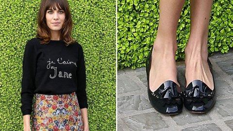 ALEXA CHUNG går for loafers i vår.