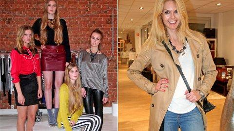 HØST: T.V. Modeller som representerer høstmoten, og til høyre Side2-journalist Elin Reitan.