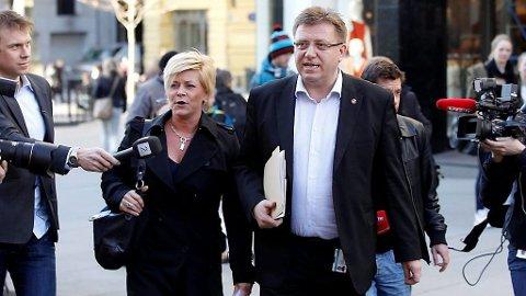 Siv Jensen og Geir Mo har møtt mye kritikk fra eget parti den siste uka.
