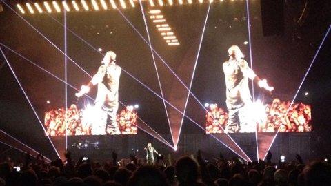 IMPONERTE: Kanye og Jay-Z overbeviste på Telenor Arena. Side2s fotograf var ikke tilstede på Oslo-konserten, grunnet såkalt fotokontrakt. Lenger nede i anmeldelsen kan du se en Youtube-snutt fra Telenor Arena.