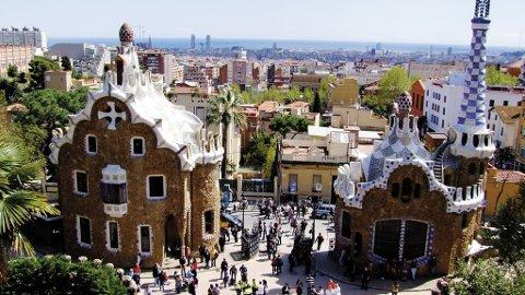 Barcelonas borgerskap viste sin status gjennom arkitektur. Her fra Parc Guell.
