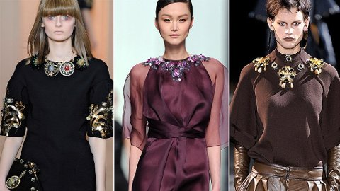 BESATTE HALSLINNINGER: Sett på catwalken hos Marni, Dior og Givenchy.