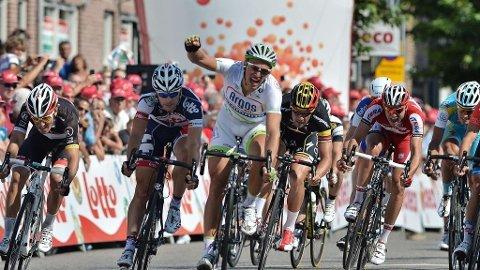 VANT I ENECO: Men vil ikke pryde seierspodiet i Beijing neste måned. Team Argos-Shimano trekker laget grunnet de politiske omstendighetene i Kina.